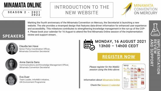 """Register Now! Webinar on """"Introduction to the new website"""""""